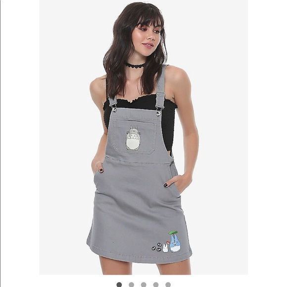 def4594684 Hot Topic Totoro overall dress